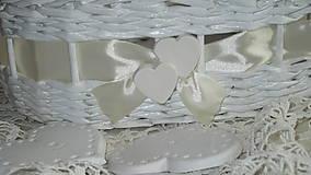 Košíky - Svadobná súprava - Ivory - 7229598_