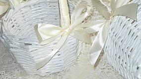 Košíky - Svadobná súprava - Ivory - 7229613_
