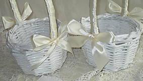 Košíky - Svadobná súprava - Ivory - 7229614_
