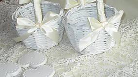 Košíky - Svadobná súprava - Ivory - 7229620_