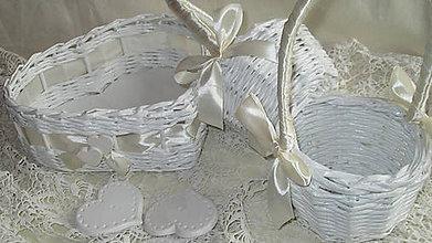 Košíky - Svadobná súprava - Ivory - 7229581_