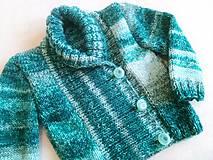 Detské oblečenie - Svetrík zelený melír - 7231061_
