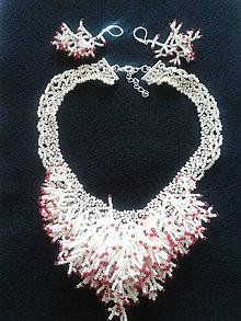 Sady šperkov - náhrdelnik korál - 7231522_
