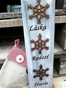 Tabuľky - Vianočná dekorácia Vločka - 7229085_