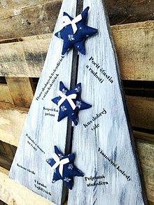 Tabuľky - Drevený stromček s heslami Vianoc - 7229185_