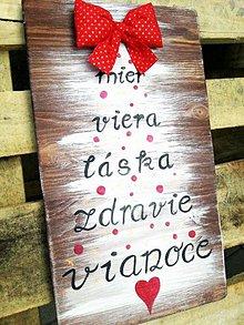 Tabuľky - Tabuľka Vianoce - 7229242_