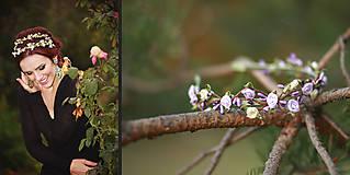 Jemná kvetinová čelenka verzia fialová
