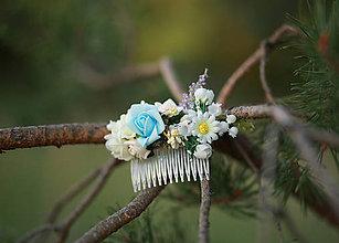 Ozdoby do vlasov - Kvetinový hrebienok do vlasov - 7232641_