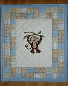 Textil - Deka pre deti - dva varianty (OPICA LEO) - 7228725_