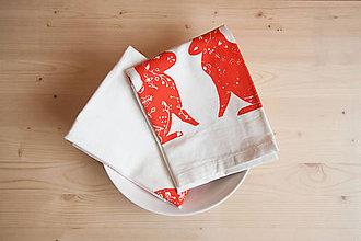 Úžitkový textil - Sada utierok - zajace, 2ks - 7230388_