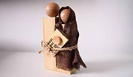 Dekorácie - Drevená dekorácia - Svätá rodina - 7230833_
