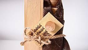 Dekorácie - Drevená dekorácia - Svätá rodina - 7230843_
