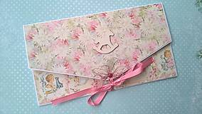 Papiernictvo - Obálka na peniaze k narodeniu dievčatka - 7229257_