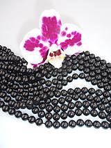 turmalín čierny 8mm korálky
