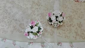 Nádoby - Svadobné bielo-ružové. - 7231043_