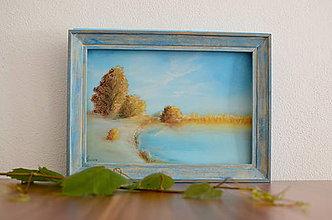 Obrazy - Ticho u jazera - 7230234_