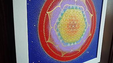 Obrazy - Mandala - KVET ŽIVOTA - 7229895_