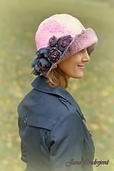 Čiapky - Vintage ružový klobúk - 7232107_