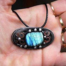 Sady šperkov - Dartaňan - Labradorit + Náušnice ZDARMA - 7230055_