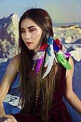 Bohatý farebný vlasový hair clip