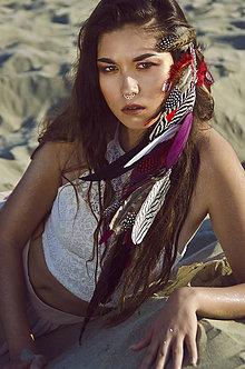 Ozdoby do vlasov - Červený vlasový hair clip - 7230590_