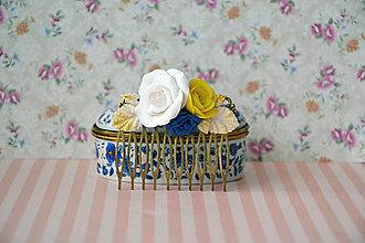 Iné šperky - Sissi, hrebienok, fimo - 7229230_