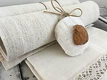 Úžitkový textil - Darčeková súprava NATUR - 7228846_