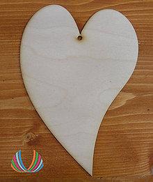 Polotovary - Drevené srdce - zahnuté 20cm - 7229045_