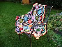 Úžitkový textil - Háčkovaná deka Monika - 7230656_