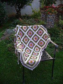 Úžitkový textil - Háčkovaná deka Anne Marie - 7229602_