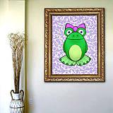 Grafika - Žabky, pozadie ornamenty - 7229911_