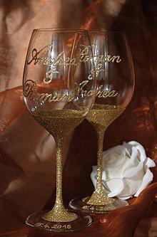 Nádoby - Svadobné poháre - 7234121_