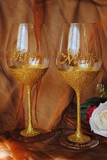 Nádoby - Svadobné poháre - 7234160_