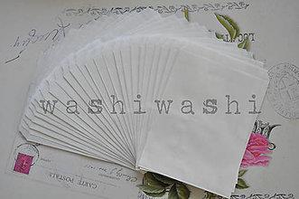 Obalový materiál - papierovy sacok biely - 7234488_