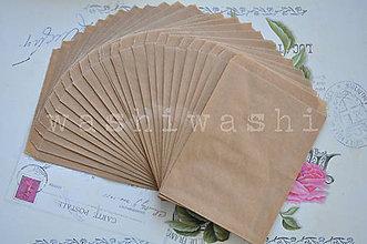 Obalový materiál - papierovy sacok natur - 7234496_
