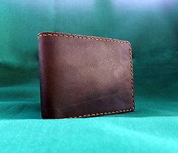 Peňaženky - Kožená peněženka hnědá - 7234933_