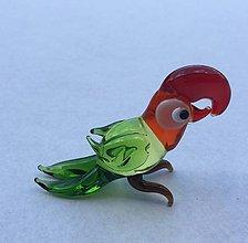 Drobnosti - Figúrka papagája - 7237387_