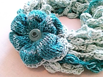 Šály - Green Flower - VÝPREDAJ - 7234520_