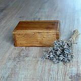 Krabičky - Dubová truhlička - 7236621_