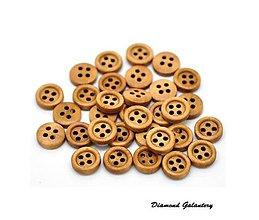 Galantéria - Drevený gombík Coffe 11 mm - 7236132_