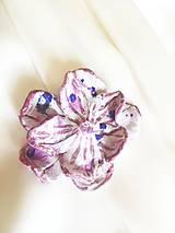 Odznaky/Brošne - brošňa ružovofialkový kvet - 7232823_