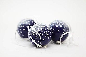 Dekorácie - Zasnežené vianočné gule - 7233803_