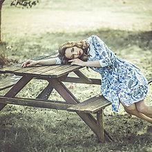 Šaty - SLEVA -20 E Porcelánové šaty - 7233183_