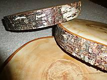 - vintage svadba/podložky z drevených plátov 5 (breza) - 7233596_