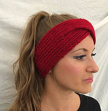 Čiapky - Čelenka červená - turban - 7236254_