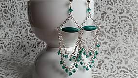 Náušnice - Náušničky GREEN PASSION - 7237015_