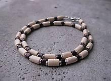 Šperky - Pánsky náhrdelník okolo krku drevený - 7236282_