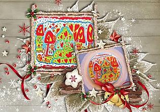 Odznaky/Brošne - Vianočná BROŠŇA a klasická POHĽADNICA VIANOCE - 7236093_