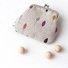 Peňaženky - Peňaženka mini Fialové stromy - 7233230_