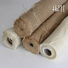 Textil - Jutovina 50cm x 5m - prírodná - 7235502_